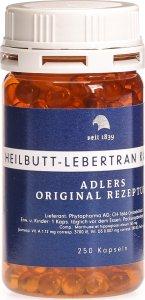 Immagine del prodotto Heilbutt-Lebertran Kapseln Adlers Original Rezeptur 250 Stück