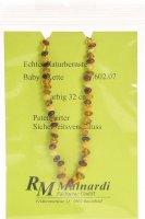 Image du produit Mainardi Chaîne de bébé en ambre colorée avec fermoir de sécurité de 32cm