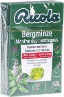 Image du produit Ricola Bergminze Kräuterbonbons ohne Zucker Box 50g