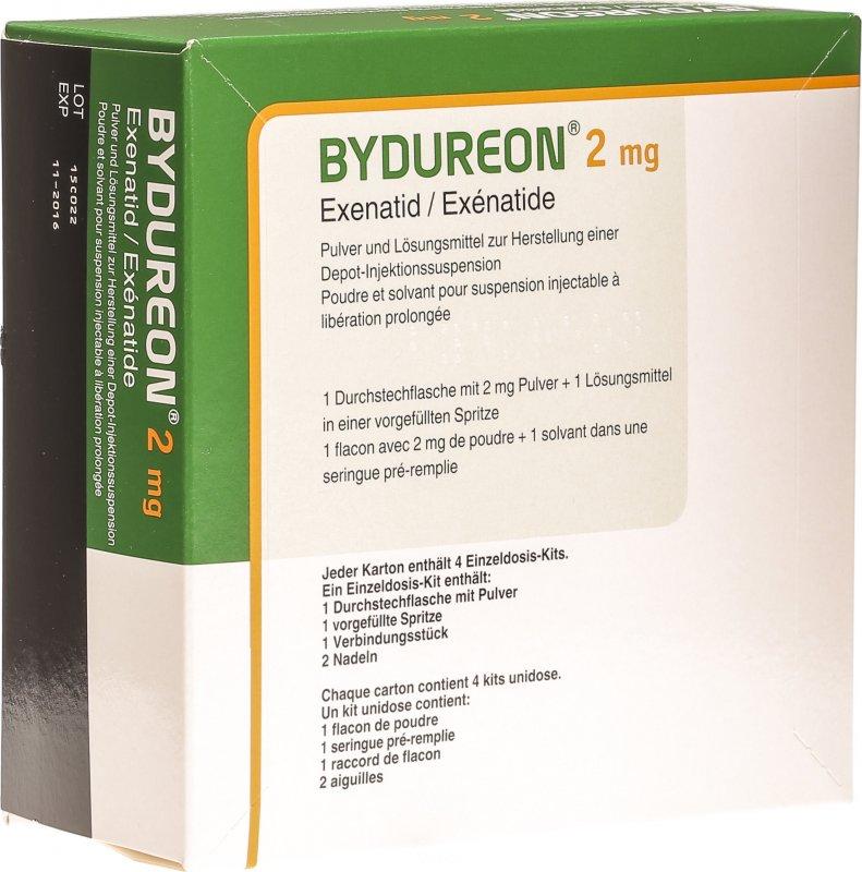 Bydureon 2mg Einzeldosis-Kit C Solv 4 Stück in der Adler