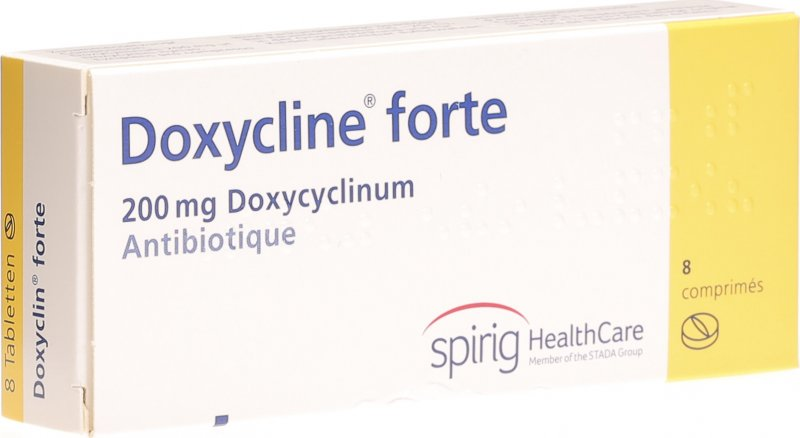 doxyclin forte tabletten 200mg 8 st ck in der adler apotheke. Black Bedroom Furniture Sets. Home Design Ideas