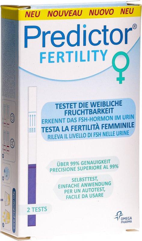 Predictor Fertility Fruchtbarkeitstest Frau 2 Stück in der