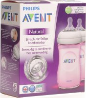 Avent Philips Naturnah-Flasche 2x 260ml Duo Rosa