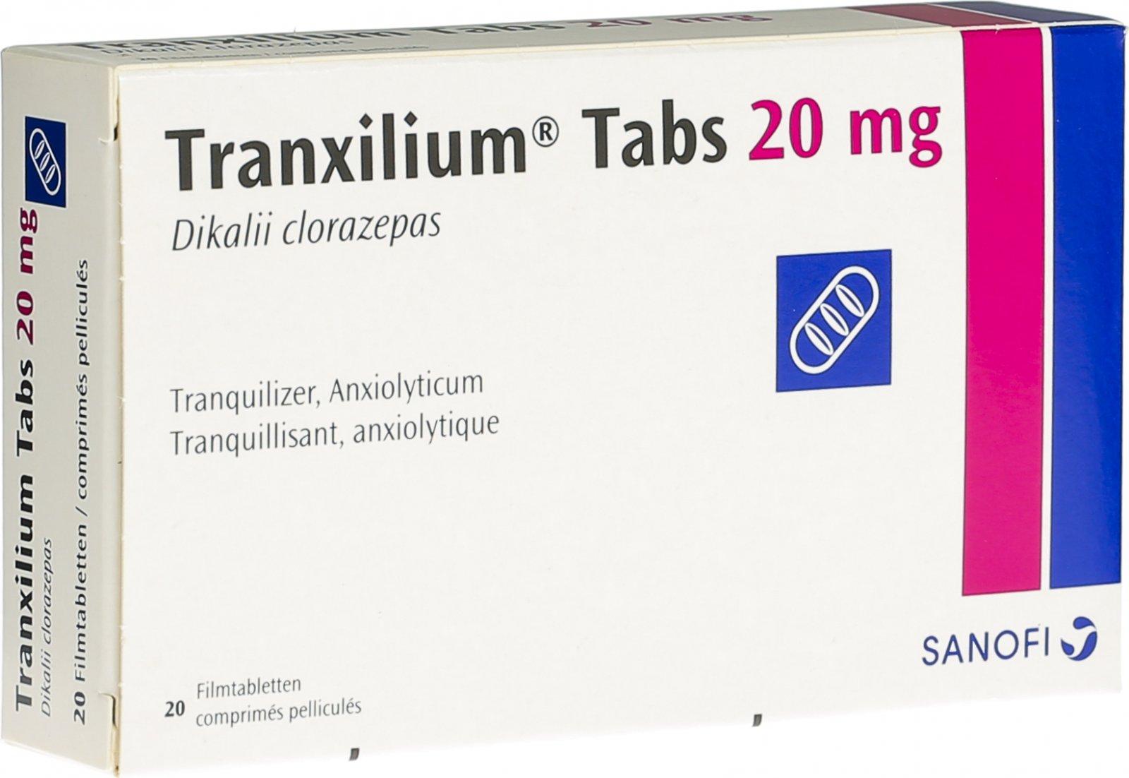 Tranxilium Tabs Filmtabletten 20mg 20 Stück In Der Adler Apotheke