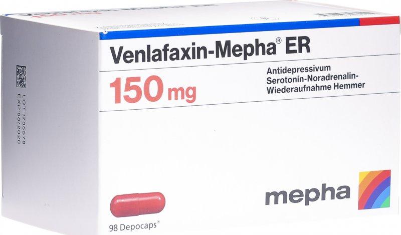 Venlafaxin Mepha ER 150 Depocaps 150mg 98 Stück in der