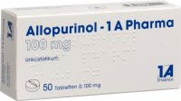 Allopurinol 1a Pharma Tabletten 100mg 50 Stück