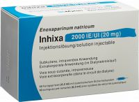 Immagine del prodotto Inhixa Injektionslösung 20mg/0.2ml 10 Fertigspritzen 0.2ml