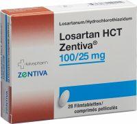 Immagine del prodotto Losartan HCT Zentiva Filmtabletten 100/25mg 28 Stück