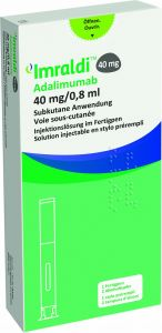 Immagine del prodotto Imraldi Injektionslösung 40mg/0.8ml Fertpen 0.8ml