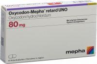 Immagine del prodotto Oxycodon Mepha Retard Uno Retard Tabletten 80mg 14 Stück
