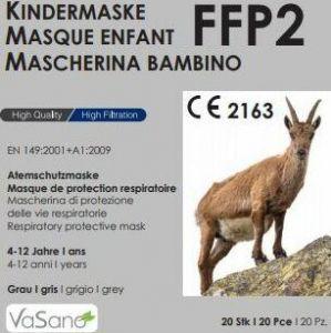 Immagine del prodotto Vasano Maschera FFP2 Bambino 4-12 anni Grigio 20 pezzi