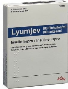 Immagine del prodotto Lyumjev Injektionslösung 100 Ie/ml F Pen 5 Ampullen 3ml