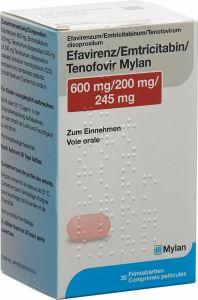 Immagine del prodotto Efavirenz Emtricit Tenof Mylan Filmtabletten Flasche 30 Stück