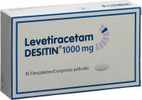 Image du produit Levetiracetam Desitin Filmtabletten 1000mg 30 Stück