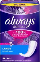 Immagine del prodotto Always Fodera per mutande Extra Protection Large Fresh Bigpack 47 pezzi