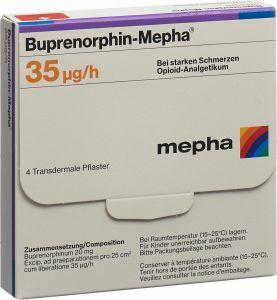 Immagine del prodotto Buprenorphin Mepha Tts 35 Mcg/h Beutel 4 Stück