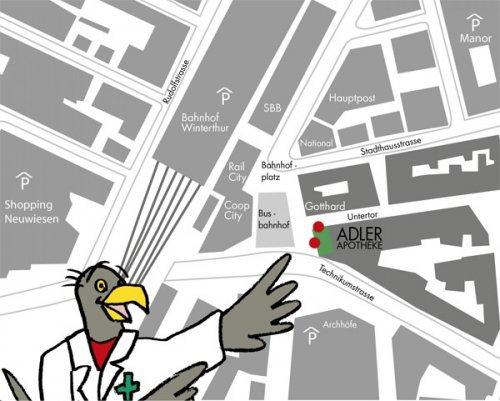 Adler Apotheke Winterthur map